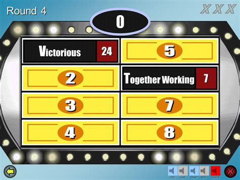 Family Feud Customizable Powerpoint Template - Youth