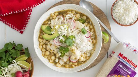 Green Pozole with Fish and White Rice   Mahatma® Rice