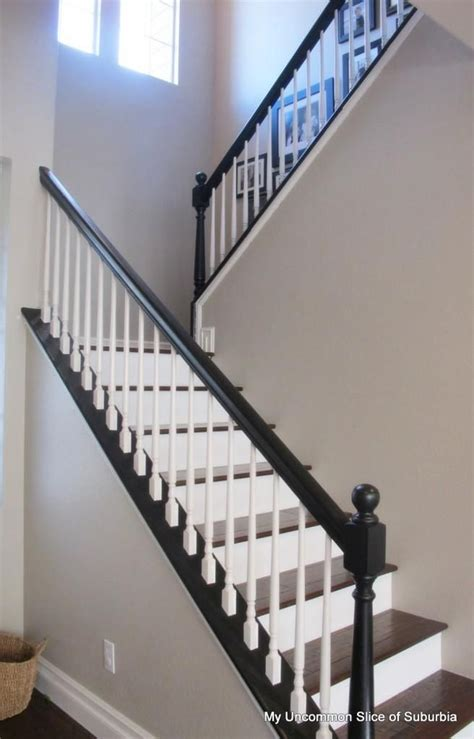 Lovely Painted Stair Railings #2 - Black And White Stair