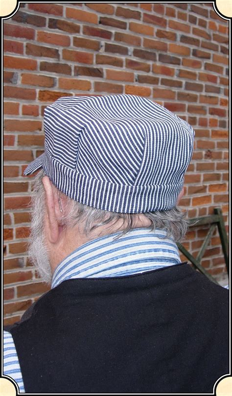 Hickory Striped Engineers Cap