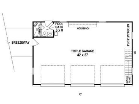 Detached 3-car garage plan features country styling, a 10