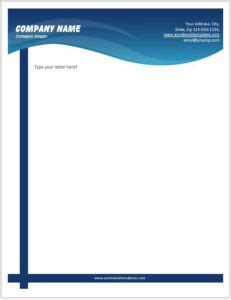 Business Letterhead Templates for MS Word | Word & Excel