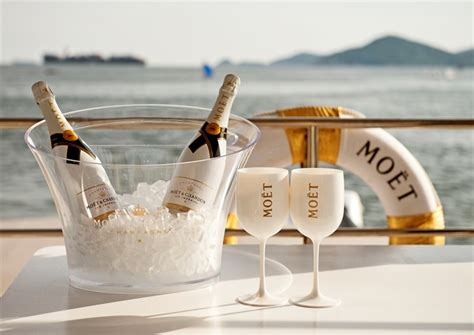 Gaze at Hong Kong's skyline from the Moët & Chandon Ice