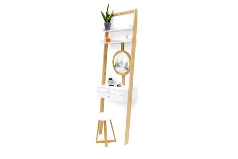 Bamboo & MDF Leaning small Dressing Table | Futon Company