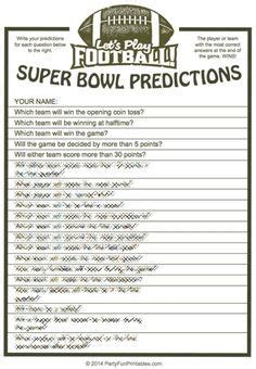 Super Bowl Trivia Multiple Choice Printable Game in 2020