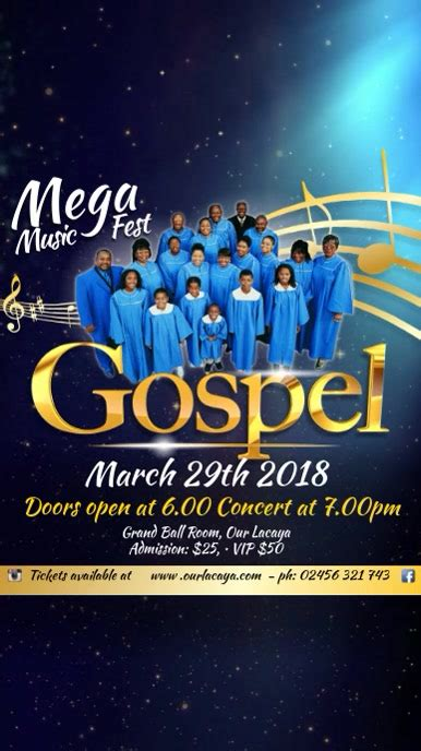 Gospel Event Template | PosterMyWall
