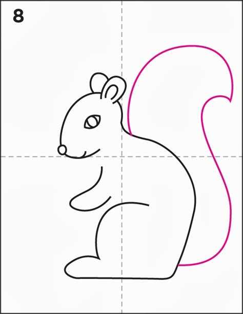 How to Draw a Squirrel - Art Projects for Kids