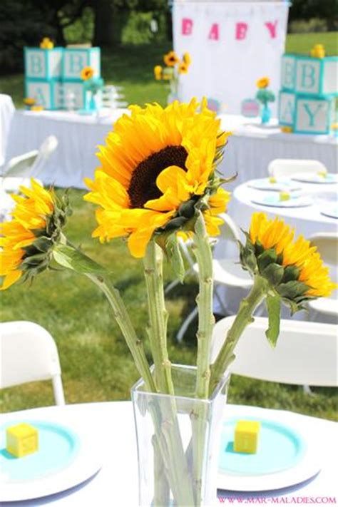 Yellow and Turquoise Baby Shower - Baby Shower Ideas 4U