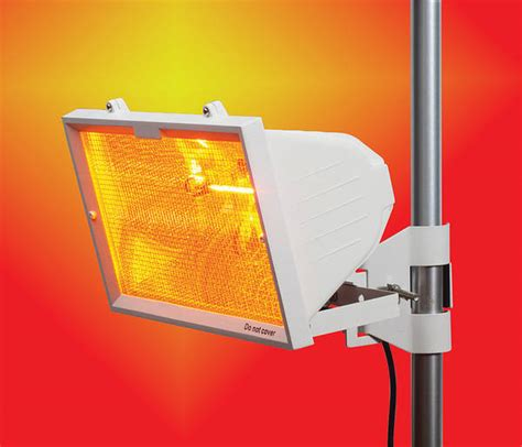 Patio Heater 1300w White - Wall or Pole Mounted
