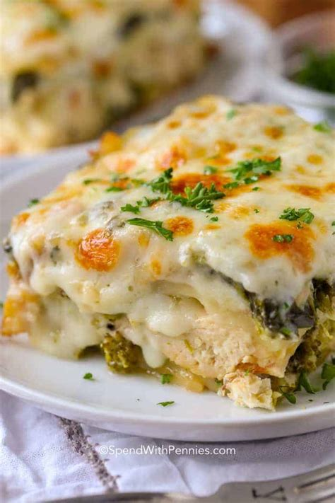 Chicken Lasagna {Family Favorite} - Spend With Pennies