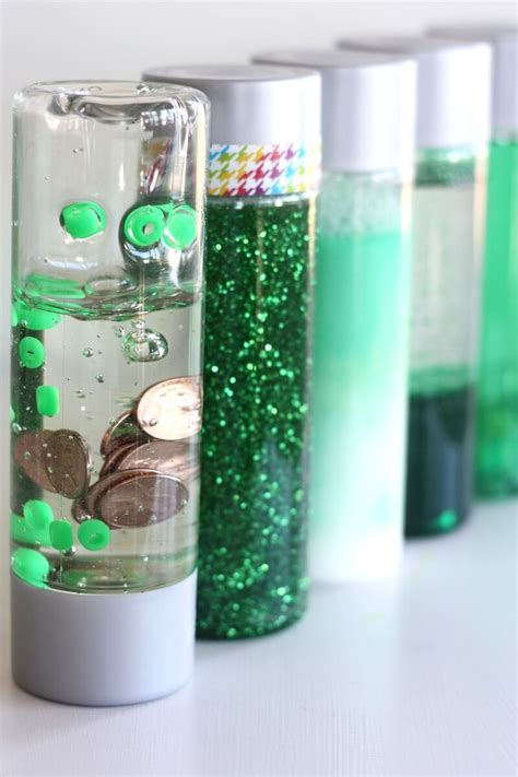 St Patricks Day Science Discovery Bottles