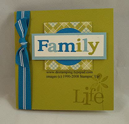 Scrappy Thursday - Family Mini Scrapbook - DOstamping with