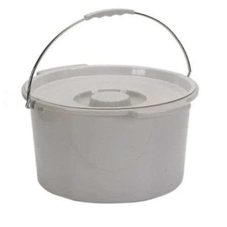 Commode Bucket with Metal Handle and Cover - Each