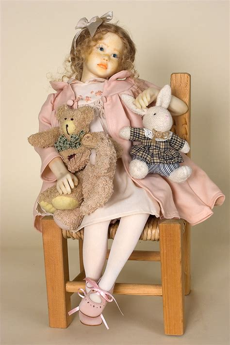 Wish of Love - polymer clay one of a kind art doll by