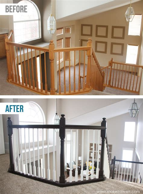 How to Stain/Paint an Oak Banister (the shortcut method