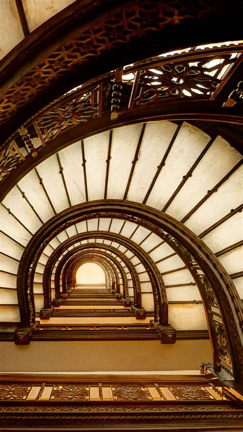 Wallpaper black and white stairs, Tourism, Travel