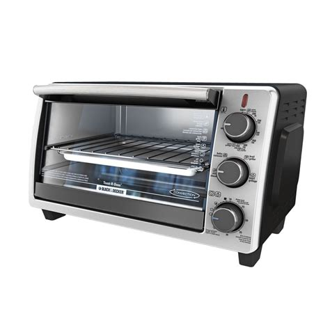 BLACK & DECKER 6-Slice Silver Convection Toaster Oven with