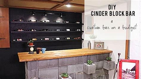 DIY Concrete Cinderblock Bar from Knock It Off! For the