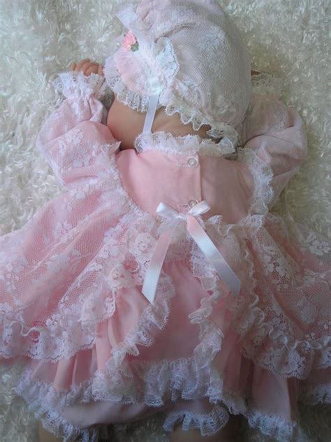 Pink & Lace For 18 Inch Reborn Preemie Dolls   Baby pink