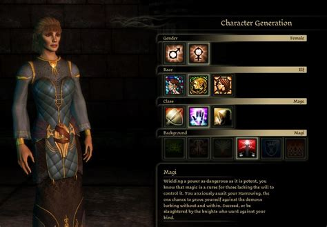 Dragonchasers » Character Creator: Gender, Race, Class and