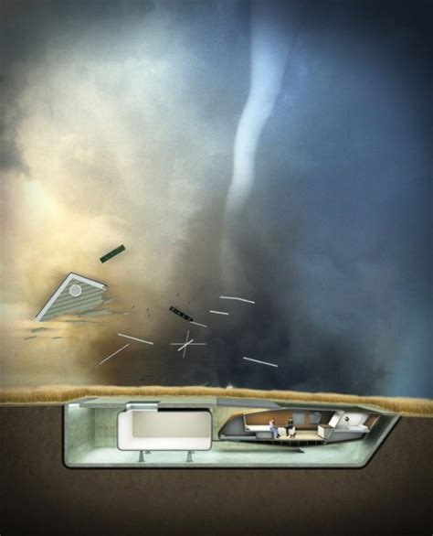 Tornado-proof home that sinks into the ground developed by