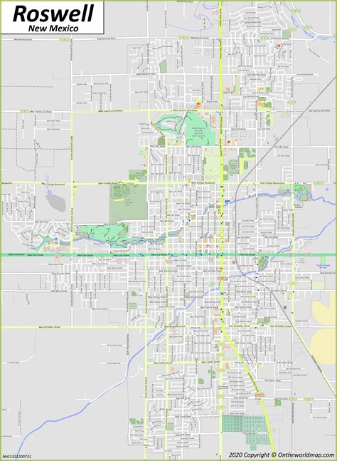 Roswell Map | New Mexico, U