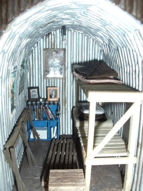 WW2 Anderson Shelter | Inside with the light off showing