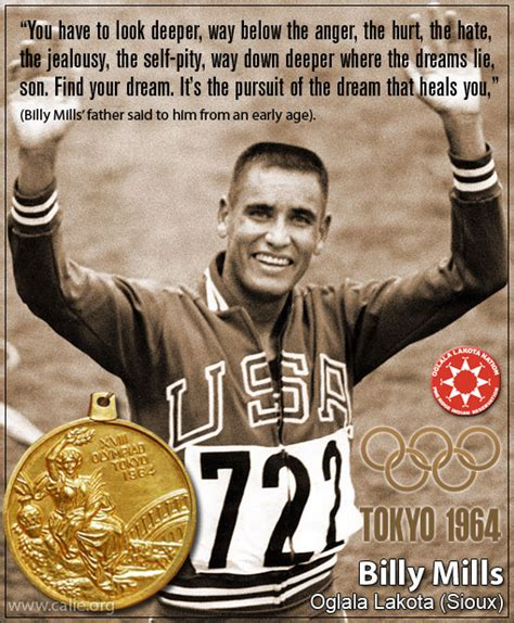 BILLY MILLS, NATIVE AMERICAN INDIAN Olympic Gold Medal