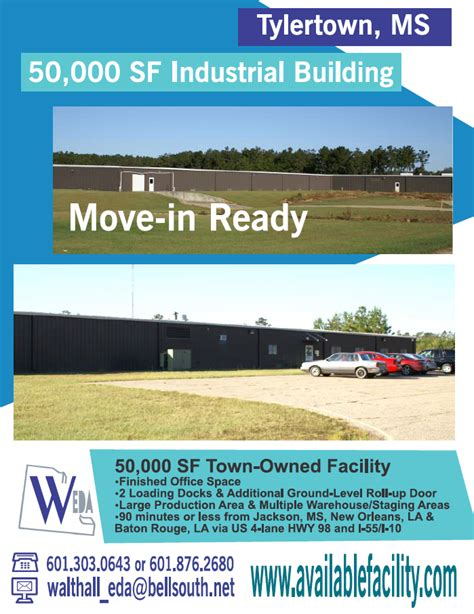 50,000 SF Town-Owned Facility