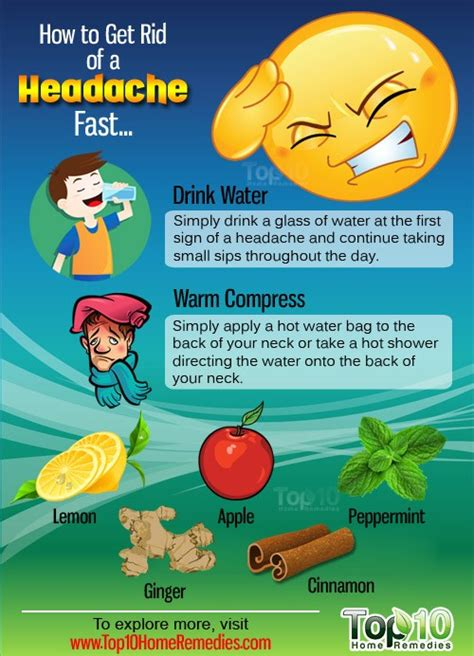 How to Get Rid of a Headache Fast | Top 10 Home Remedies